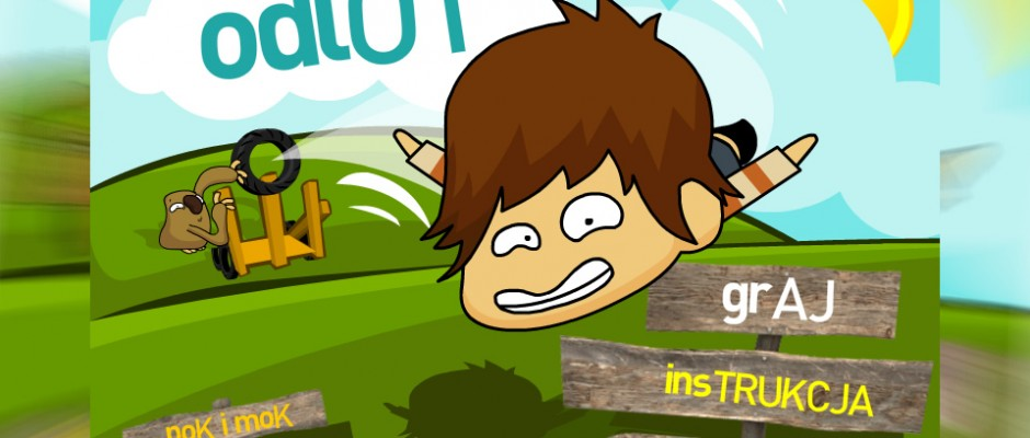Game (Pok i Mok Odlot)with heroes from Pok&Mok TV series for TeleToon+ website. Players must fly as far as they can and collect items during theirs flight. They can also but some upgrades between next tries.