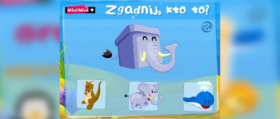 Guess Who game for MiniMini+ called Zoo Zgadula. Inside players can find great animations and illustrations.