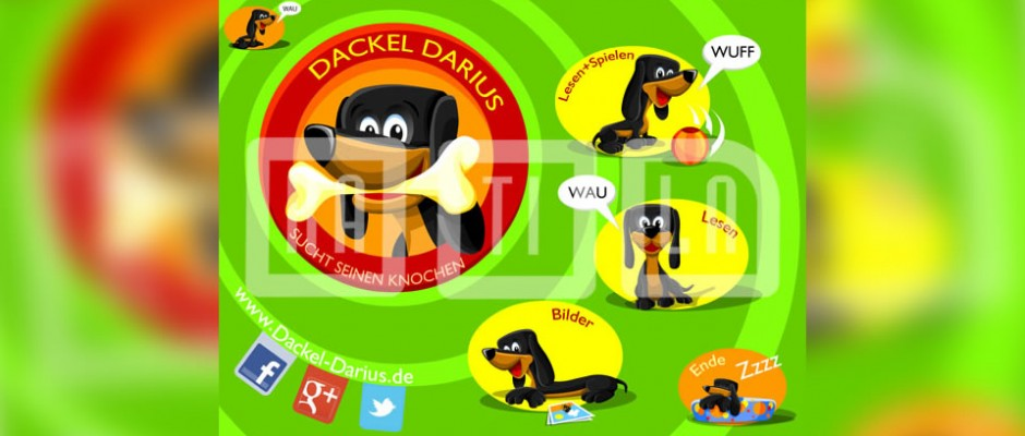 Dackel Darius is an interactive mobile book for children.