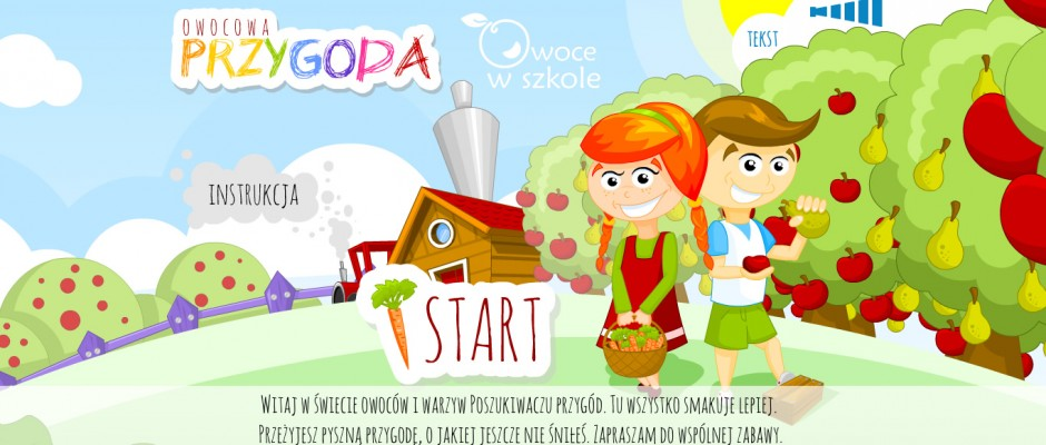 Owocowa Przygoda (Fruit's Adventure) is both: game and an animated story. Player can choose his own hero and many items which are used later during the stories. Heroes wear selected clothes in every tale during the trip: in school or on the farm. There are a lot of items and[...]